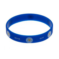 "Leicester City - Club Crest & Text ""Foxes Never Quit""  Single Wristband - Cover"