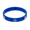 "Leicester City - Club Crest & Text ""Foxes Never Quit""  Single Wristband"
