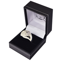 Leicester City - Silver Plated Club Crest Ring (Medium) - Cover