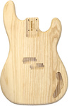 Allparts Bass Guitar Swamp Ash Replacement Unfinished Body for Fender Precision Bass (Natural)