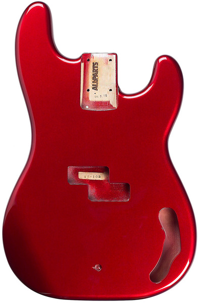 8603b2c97dc Allparts Bass Guitar Alder Replacement Body for Fender Precision Bass (Candy  Apple Red) -