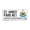 Newcastle United - Club Crest & Text St. James Park N1 Street Sign