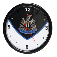 Newcastle United - Club Crest Swoop Wall Clock - Cover