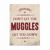 Harry Potter - Muggles Small Tin Sign (Metal Wall Sign A5)