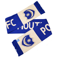 """Portsmouth - Club Crest &Text """"PORTSMOUTH FC"""" Named Scarf - Cover"""