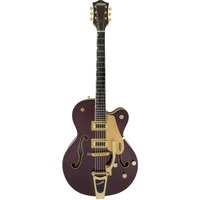 Gretsch G5420TG Electromatic Series 135th Anniversary Single Cut Hollow Body Electric Guitar with Bigsby (Two-Tone Dark Cherry and Casino Gold)