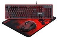 Redragon - 3in1 (K509|M608|P016) Gaming Combo 3 Black (Keyboard/Mouse/Mouse Pad) - Cover