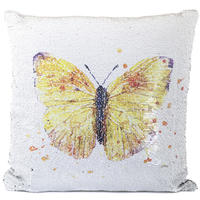 Lesser Pavey Sequin Cushion - Butterfly