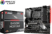 MSI B450M MORTAR Socket AM4 MicroATX Motherboard for AMD Ryzen Processors - Cover