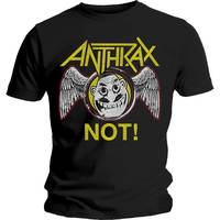 Anthrax Not Wings Men's Black T-Shirt (X-Large) - Cover