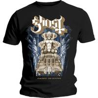 Ghost Ceremony and Devotion Men's Black T-Shirt (Large) - Cover