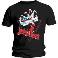 Judas Priest British Steel Hand Triangle Men's Black T-Shirt (Small) - Cover