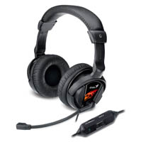 Genius HS-G500V Binaural Head-band Headset - Black - Cover