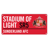 Sunderland AFC - Club Crest & Text STADIUM OF LIGHT SR5 Colour Street Sign