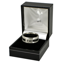 Tottenham Hotspur - Club Crest Black Inlay Ring (Large) - Cover