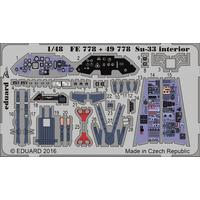 Eduard - Photoetch (Zoom): 1/48 - Su-33 Sea Flanker Interior (Plastic Model Kit Add-On)