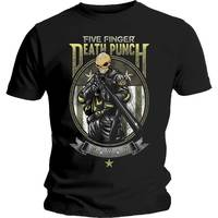 Five Finger Death Punch - Sniper Men's Black T-Shirt (X-Large) - Cover
