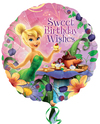 Anagram - 18 inch Circle Foil Balloon - Tinker Bell Happy Birthday