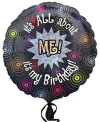 Anagram - 18 inch Circle Foil Balloon - All About Me Birthday - Cover