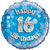 Oaktree - 18 inch Foil Balloon - Happy 16th Birthday Blue Holographic Cover