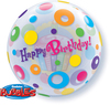Qualatex - 22 inch Single Bubble Balloon - Birthday Cupcakes & Dots