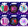 Simon Elvin - Small Badge - Age 18 (Pack of 6)