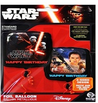 Anagram - 18 inch Square Foil Balloon - Star Wars Episode VII Happy Birthday - Cover
