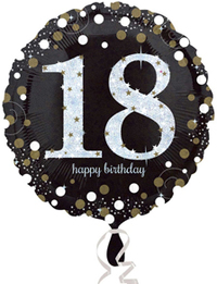 Anagram - 18 inch Circle Foil Balloon - Sparkling Birthday 18 - Cover