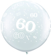 Qualatex - 3 Foot Clear Latex Balloon - 60th Birthday Around (Pack of 2) Cover