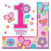Amscan - Sweet 1st Birthday Girl - Luncheon Napkins (Pack of 16) Cover