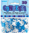 Unique Party - Blue Confetti - 30th Birthday Cover