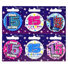Simon Elvin - Small Badge - Age 15 (Pack of 6)