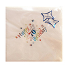 NPK - White Printed Napkins - 70th Birthday Multi Foil (Pack of 15) Cover