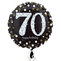 Anagram - 18 inch Circle Foil Balloon - Sparkling Birthday 70 - Cover