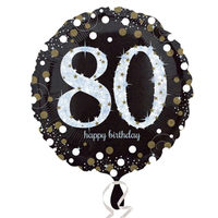 Anagram - 18 inch Circle Foil Balloon - Sparkling Birthday 80 - Cover