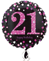 Anagram - 18 inch Circle Foil Balloon - Pink Celebration - 21st Birthday Cover