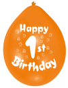 Amscan - Minipax Balloons - Happy 1st Birthday (Pack of 10)