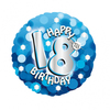 Anagram - 18 inch Holo Everts Foil Balloon - 18th Birthday - Blue Cover
