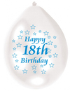 Amscan - Minipax Balloons - 18th Birthday - Blue/White (Pack of 10) Cover