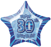 Unique Party - 20 inch Star Foil Balloon - 30th Birthday - Blue Cover