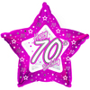 Creative Party - 18 inch Pink Star Balloon - 70th Birthday Cover