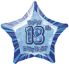 Unique Party - 20 inch Star Foil Balloon - 18th Birthday - Blue Cover