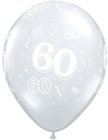 Qualatex - 11 inch Clear Latex Balloon - 60 Around (Pack of 50)