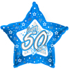 Creative Party - 18 inch Blue Star Balloon - Age 50
