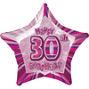 Unique Party - 20 inch Star Foil Balloon - 30th Birthday - Pink Cover