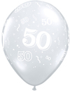 Qualatex - 11 inch Clear Latex Balloon - 50 Around (Pack of 50)