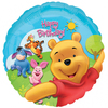 Anagram - 18 inch Circle Foil Balloon - Pooh & Friends Sunny Birthday