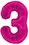 Unique Party - 34 inch Pink Glitz Number Balloon - 3