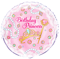 Unique Party - 18 inch Foil Balloon - Pink Birthday Princess - Cover