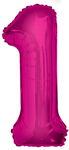 Unique Party - 34 inch Pink Glitz Number Balloon - 1